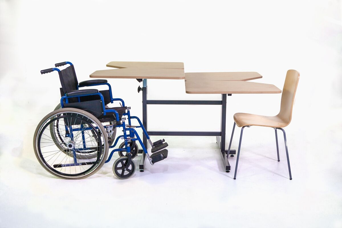 4Person Wheelchair Accessible Table System